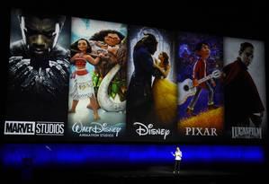 Apresentação de filmes dos estúdios Disney Foto: Chris Pizzello / AP