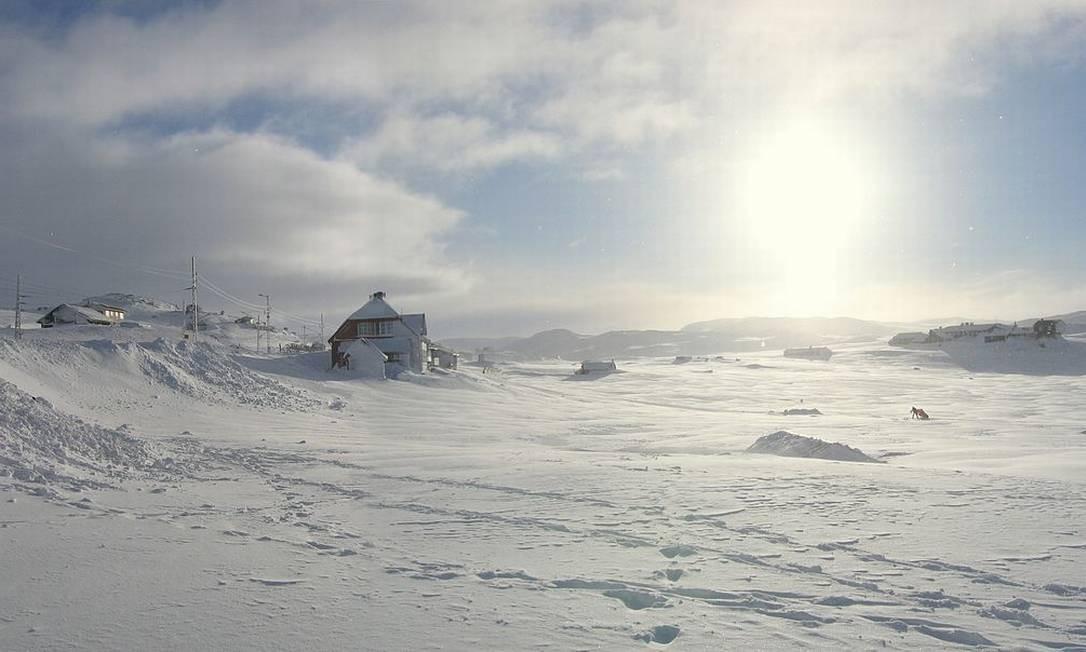 """Em 1979, os produtores de """"O Império contra-ataca"""" queriam um lugar muito frio para servir de cenário para o planeta Hoth. Encontraram Finse, um vilarejo de montanha no sul da Noruega. E nem precisa de nave espacial para chegar lá, é possível ir de trem a partir de Oslo Foto: Creative Commons"""