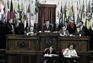 No plenário, as votações estão paralisadas por conta do impasse legislativo Foto: Sérgio Gomes / Divulgação