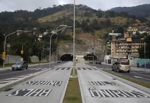 Túnel Charitas-Cafubá que marca o início da Transoceânica foi inaugurado há um ano. Foto: Fábio Guimarães / Agência O Globo