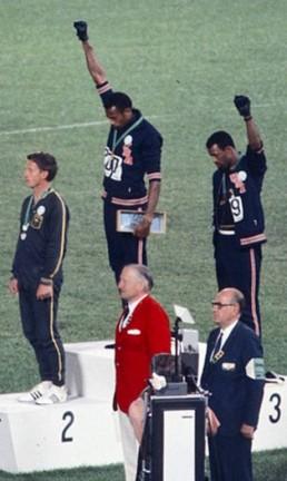 O pódio dos 200 metros rasos na Olimpíada de 1968 Foto: Divulgação