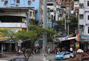 Um dos acessos para a comunidade da Rocinha Foto: Fabiano Rocha - 5/11/217