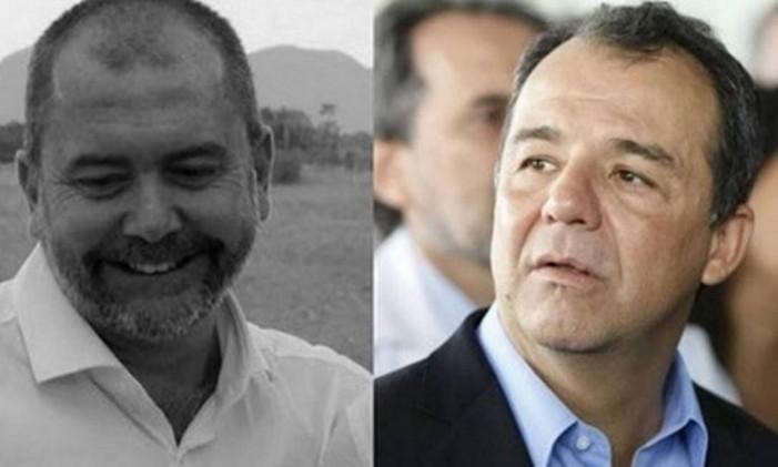 Carlos Miranda e Sérgio Cabral Foto: Reprodução