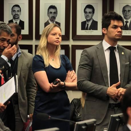 Danielle Cunha, filha de Eduardo Cunha, na Câmara em 2015: ela quer ser deputada Foto: Jorge William / O Globo