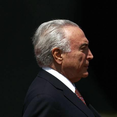 Presidente Michel Temer participa de cerimônia em Brasília. Foto de Jorge William /Agência O Globo
