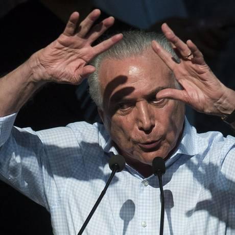 Temer pode se complicar em investigação Foto: Edilson Dantas / Agência O Globo