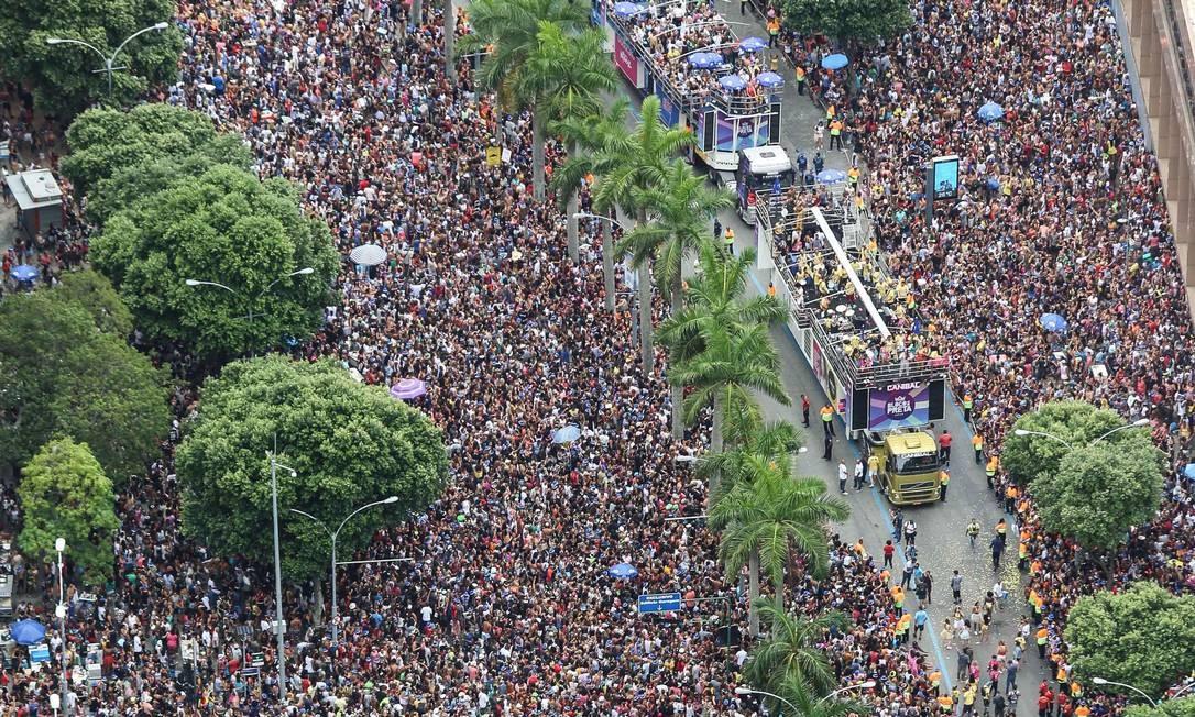 Cerca de 700 mil foliões acompanharam o Bloco da Preta este ano, no Centro do Rio Foto: Fernando Maia/Riotur