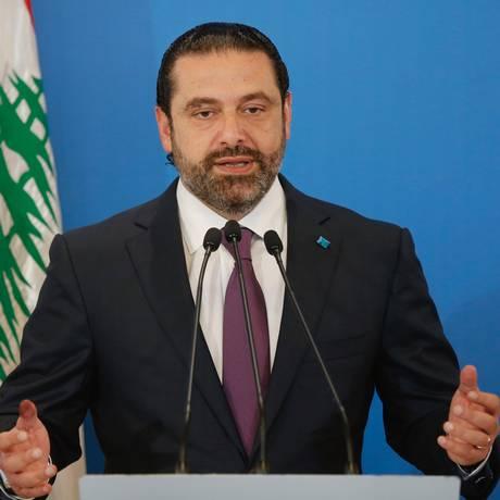 O premier libanês, Saad al-Hariri Foto: MOHAMED AZAKIR / REUTERS