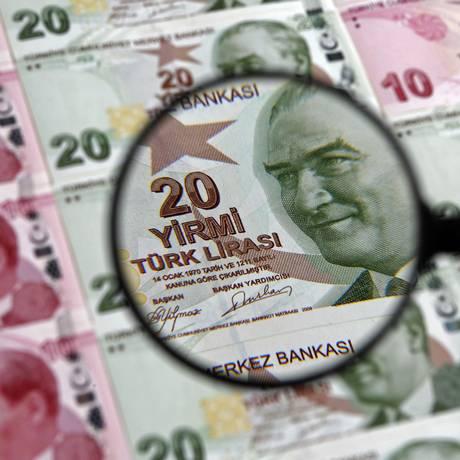 Nota de 20 liras turca. Foto: Murad Sezer/Reuters