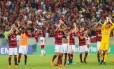 Rio de Janeiro 06/05/2018 Campeonato Brasileiro, 4ª Rodada, jogo Flamengo contra o Internacional no Estádio do Maracanã. Foto Marcelo Regua / Agencia O Globo