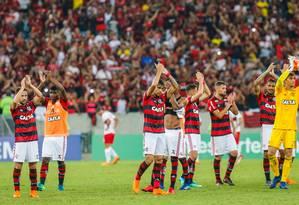 Rio de Janeiro 06/05/2018 Campeonato Brasileiro, 4ª Rodada, jogo Flamengo contra o Internacional no Estádio do Maracanã. Foto Marcelo Regua / Agencia O Globo Foto: MARCELO REGUA / Agência O Globo