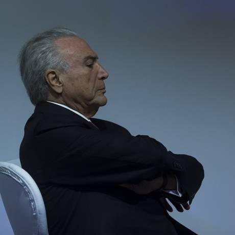 O presidente Michel Temer participa de Cerimônia de Abertura da APAS Show 2018 em São Paulo Foto: Edilson Dantas / Agência O Globo