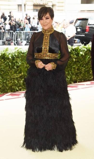 A matriarca das Kardashian, Kris Jenner Jamie McCarthy / AFP