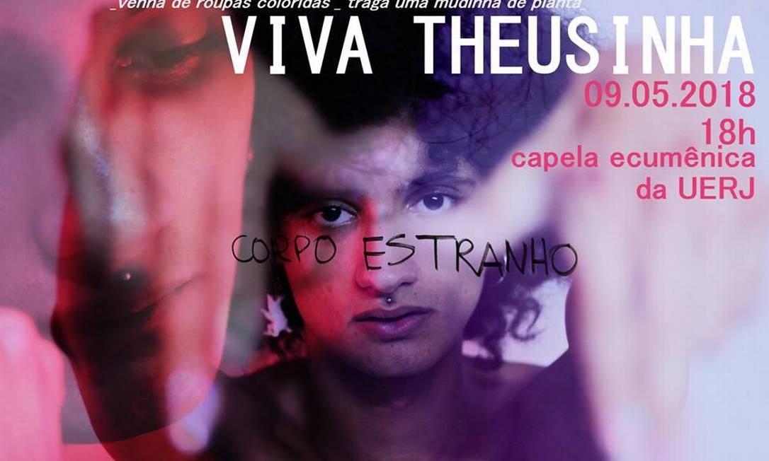 """Pelas redes sociais, amigos convocam para """"Viva Theusinha"""" Foto: Reprodução"""