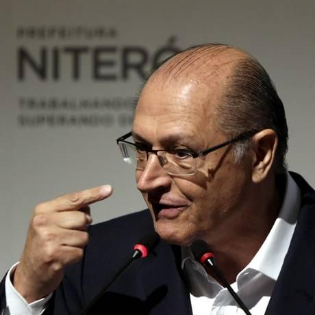 O ex-governador Geraldo Alckmin participou de reunião da Frente Nacional do Prefeitos, em Niteroi Foto: Gabriel de Paiva / Agência O Globo