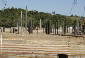 Expectativa. As obras do Park Shopping Jacarepaguá estão previstas para terminar em novembro de 2019 Foto: Brenno Carvalho / Agência O Globo
