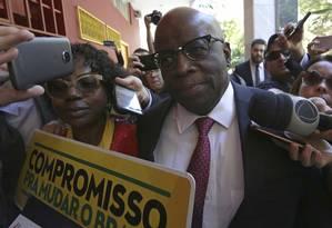 O ex-ministro do STF Joaquim Barbosa 19/05/2018 Foto: Eraldo Peres / AP