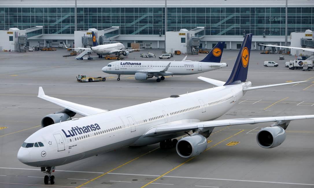Avião da Lufthansa chega em Munique, Alemanha Foto: Michaela Rehle / REUTERS