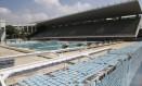 Atividades no parque aquático foram parcialmente retomadas, mas espaço ainda apresenta problemas de infraestrutura, como a manutenção precária e o abastecimento Foto: Fábio Guimarães / Agência O Globo