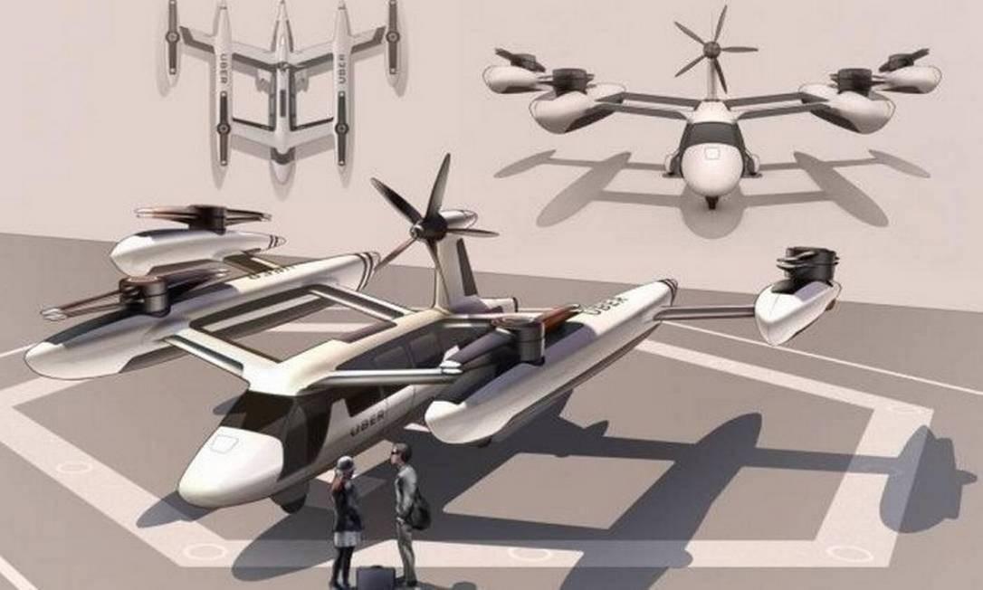 Protótipo do Uber Air. Foto: Divulgação