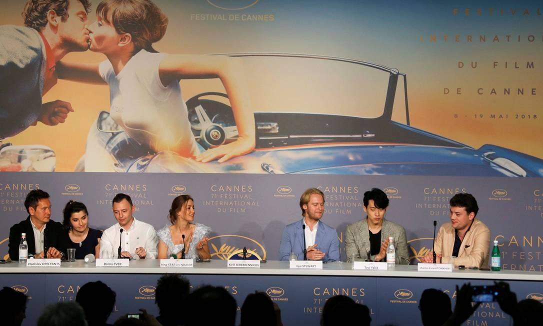 Uma cadeira vazia serviu de protesto pela ausência de Kirill Serebrennikov, diretor do filme 'Leto', no Festival de Cannes 2018 Foto: JEAN-PAUL PELISSIER / REUTERS
