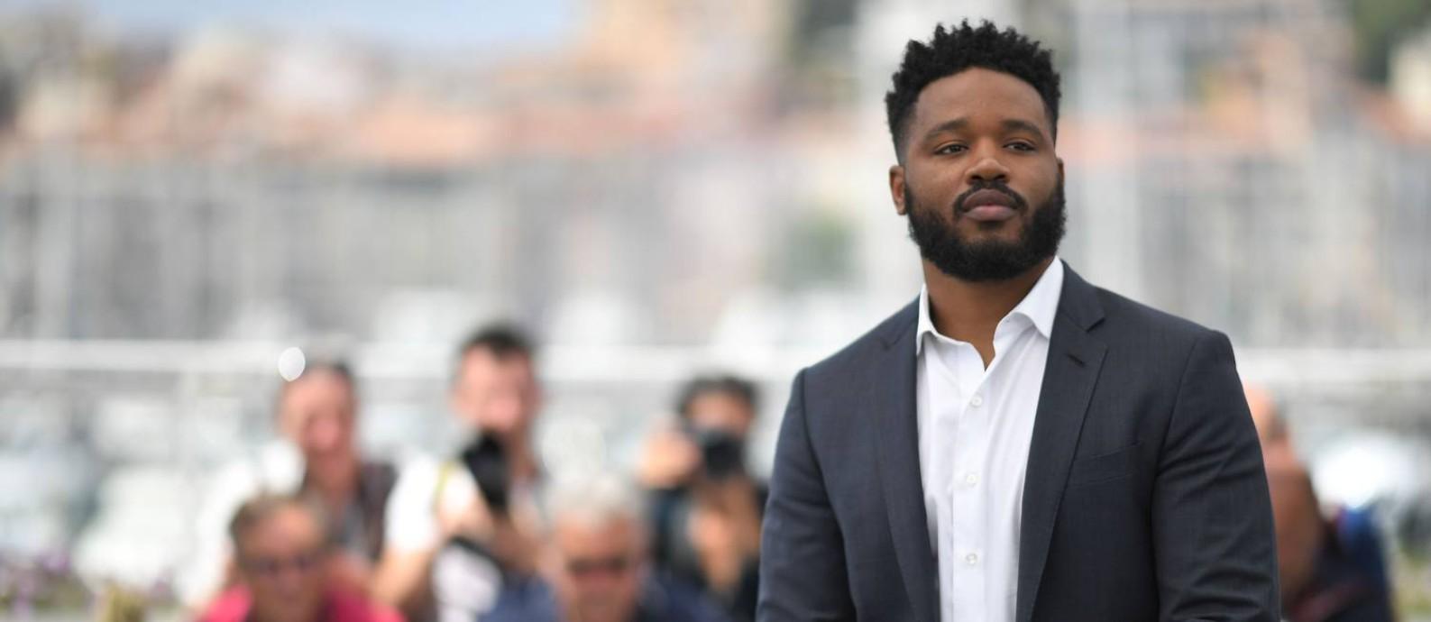 O cineasta americano Ryan Coogler, de 'Pantera Negra', em Cannes Foto: LOIC VENANCE / AFP