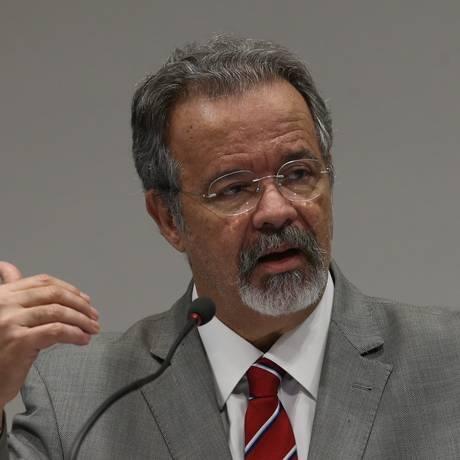 O ministro da Segurança Pública, Raul Jungmann, comentou sobre o caso Marielle Foto: Givaldo Barbosa / Agência O Globo