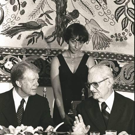 Jimmy Carter, presidente dos EUA e Eernesto Geisel conversam em 1978. Foto: Arquivo