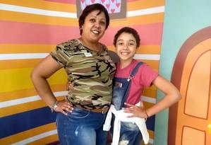 Luciana e Vitória são exemplos no Hospital Estadual da Criança Foto: Arquivo pessoal