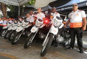 Assim como em Santa Rosa, o patrulhamento no Fonseca contará com o auxílio de motocicletas Foto: Luciana Carneiro / Prefeitura de Niterói