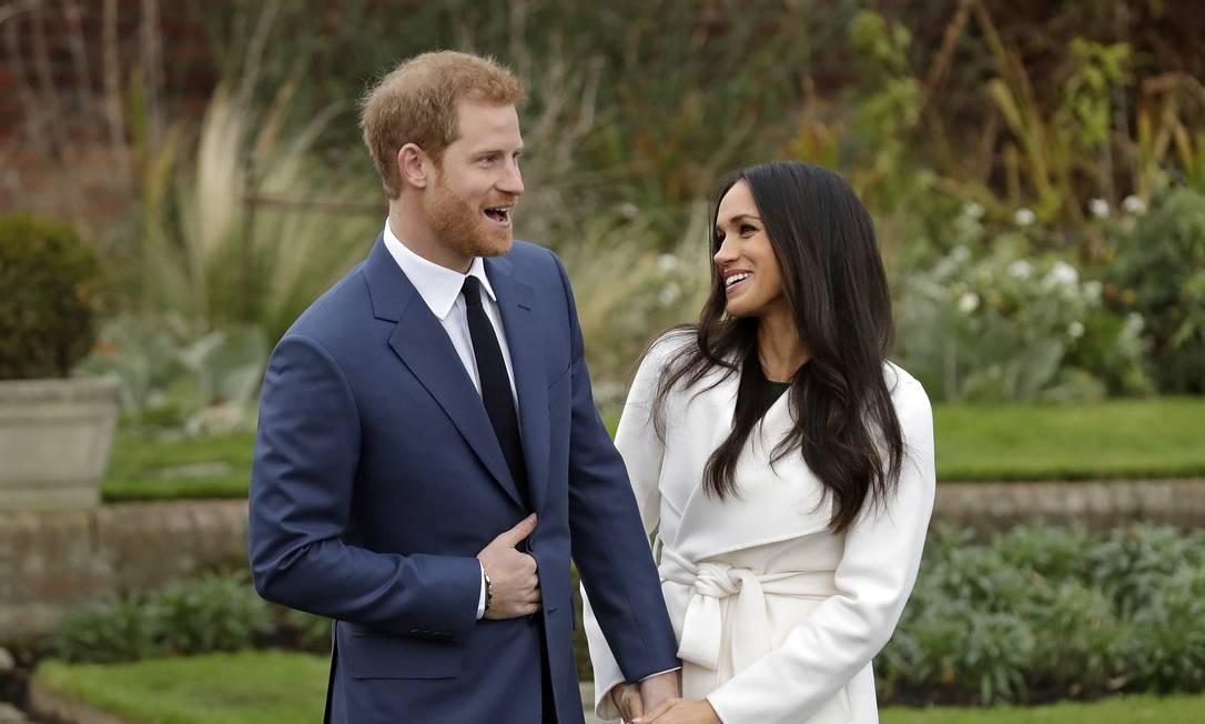 bbbb7c013 Meghan Markle e Príncipe Harry no Palácio de Kensington em 2017 Foto  Matt  Dunham