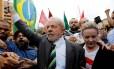 Ex-presidente Lula e a presidente do PT, Gleisi Hoffmann