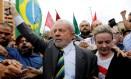 Ex-presidente Lula e a presidente do PT, Gleisi Hoffmann Foto: Nacho Doce / REUTERS