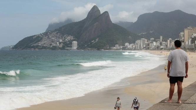 Dia das mães amanheceu com tempo nublado no Rio Foto: Brenno Carvalho / Agência O Globo