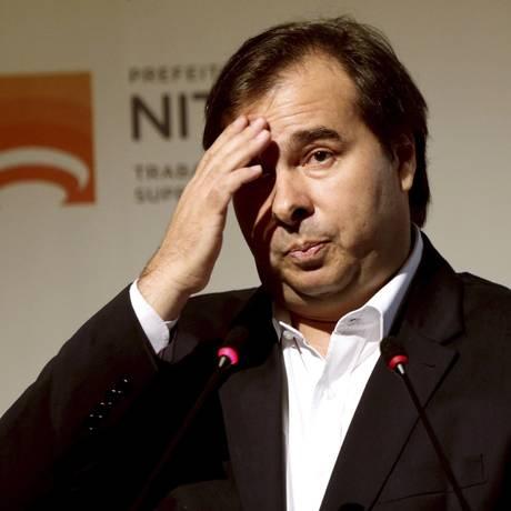 """Rodrigo Maia evitou comentar declarações de integrantes do DEM: não vou """"alimentar fofoca"""" Foto: Gabriel de Paiva/8-5-2018"""