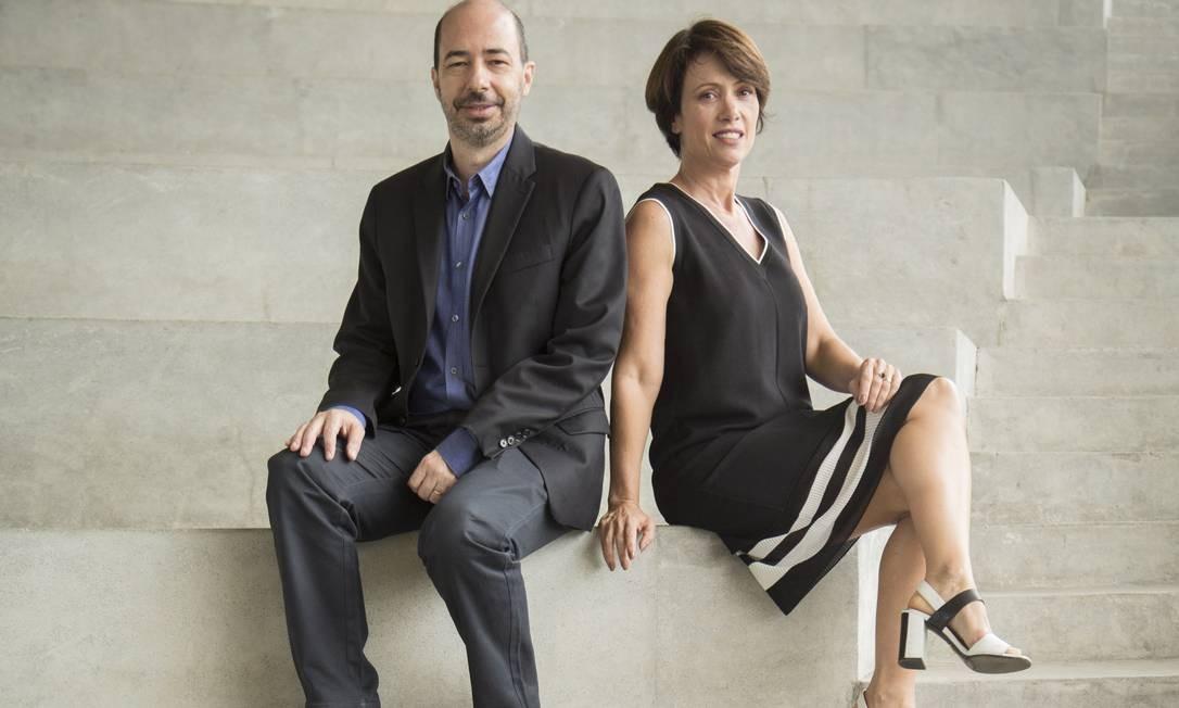 André Marini, gestor da Cidade das Artes, e Bel Kutner, diretora artística Foto: Analice Paron / Agência O Globo
