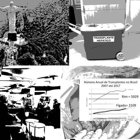 Número anual de transplantes no Brasil teve crescimento expressivo na última década Foto: Arte sobre fotos de divulgação