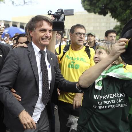 Jair Bolsonaro, pré-candidato do PSL à Presidência 04/04/2018 Foto: Jorge William / Agência O Globo