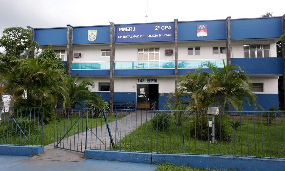 O 14º BPM, responsável pelo patrulhamento em comunidades de Bangu Foto: Márcio Alves / Agência O Globo