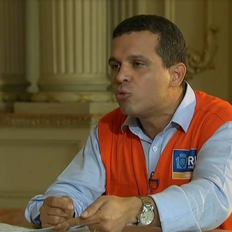 Rubens Teixeira também já foi presidente da Comlurb Foto: reprodução de vídeo / Agência O Globo