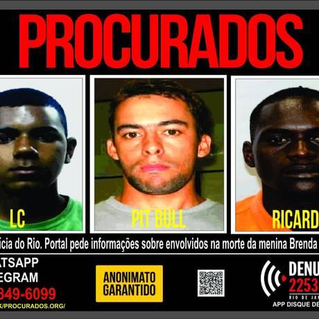 Disque Denúncia divulga cartaz com rosto de foragidos Foto: Divulgação/Portal dos Procurados