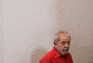 Ex-presidente Luiz Inácio Lula da Silva está preso desde 7 de abril na Superintendência da Polícia Federal de Curitiba Foto: Nacho Doce / Agência O Globo
