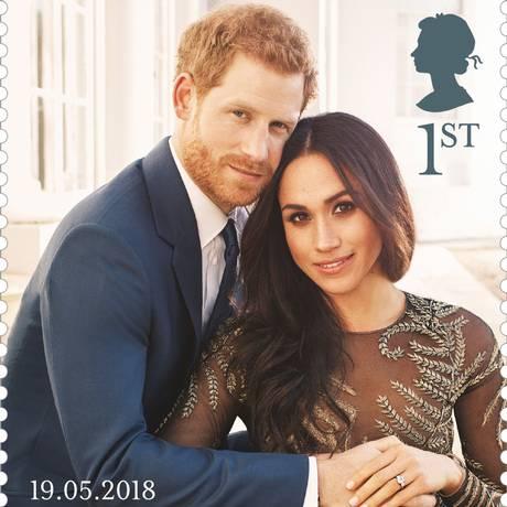 O selo por ocasião do casamento de Meghan e Harry Foto: HO / AFP