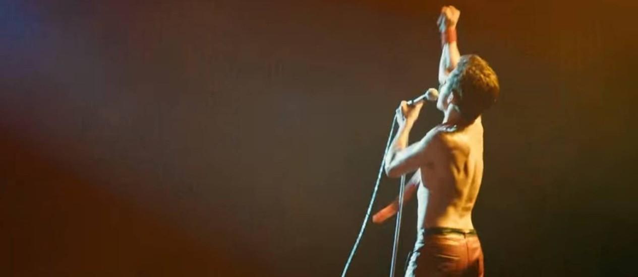 Rami Malek como Freddie Mercury no trailer de 'Bohemian Rhapsody' Foto: Reprodução