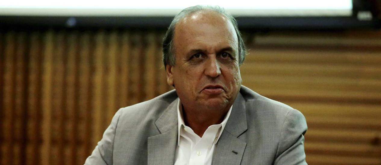 Governador do Estado do Rio de Janeiro, Luiz Fernando Pezão Foto: Marcelo Theobald / Agência O Globo