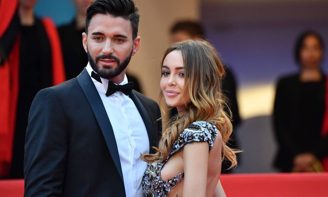 O casal Nabilla Benattia e Thomas Vergara ALBERTO PIZZOLI / AFP