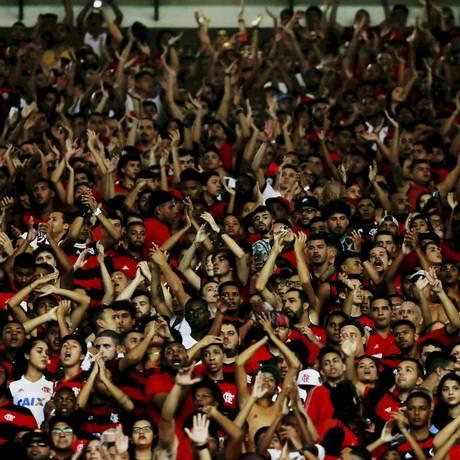 Torcida rubro-negra comprou mais de 35 mil ingressos para partida contra o Emelec Foto: Marcelo Régua