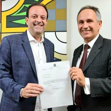 O líder do governo André Moura (PSC-CE) ao lado de Francisco Lopes Foto: Divulgação