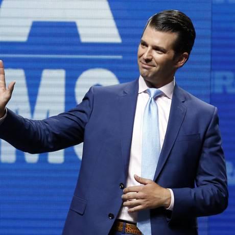 Donald Trump Jr.: filho diz não se lembrar de comentar reunião sobre a Rússia com presidente Foto: Sue Ogrocki / AP