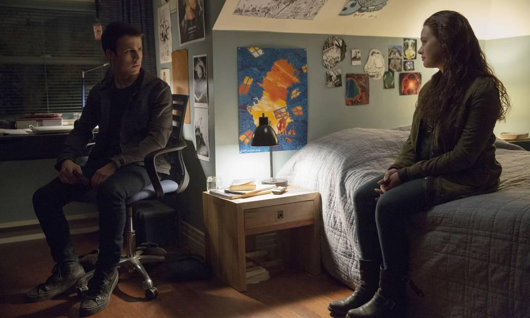 Clay (Dylan Minnette) conversa com o fantasma de Hannah (Katherine Langford) Foto: Beth Dubber/Netflix / Beth Dubber/Netflix